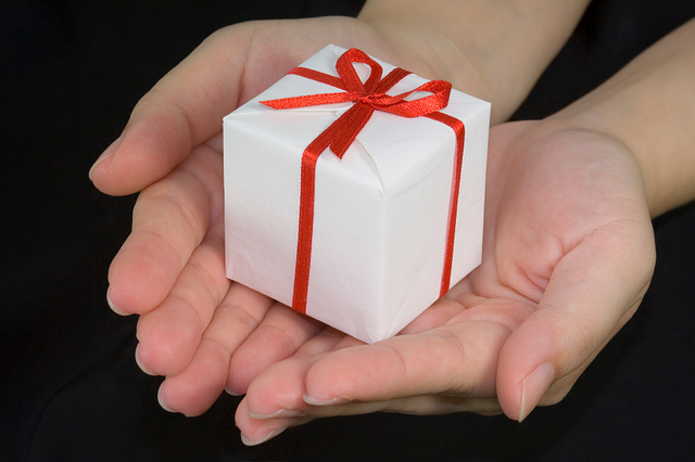 gift on your hand